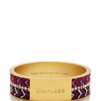 Kate Spade On Purpose Wide Double Bangle Red/Blue ONE