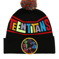 DC Comics Teen Titans Fold-Over Pom Beanie