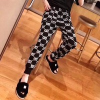 """Gucci"" Women Casual Fashion Retro GG Letter Leisure Pants Trousers"