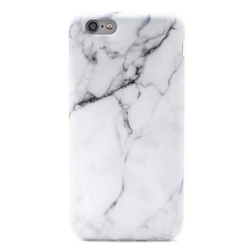 CREYRQ5 GOLINK iPhone 6/6S Case Slim-Fit Ultra-Thin Anti-Scratch Shock Proof Dust Proof Anti-Finger Print TPU Case for iPhone 6/iPhone 6S (4.7 inch) - Whole White Marble