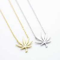 Bikini Luxe - Bad Girl Necklace | Hemp Leaf Charm Necklace
