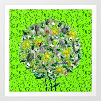 Spring explosion in green Art Print by Bozena Wojtaszek