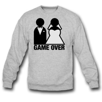 Game Over - Wedding Bride and Groom sweatshirt