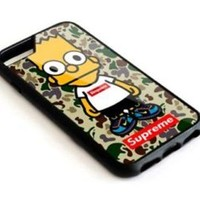 Supreme Simpsons Bape iPhone 5 5s 6 6s 7 7+ 8 8+ Hard Plastic Case