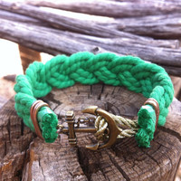Nautical Sailor Rope and bronze anchor bracelet