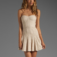 BCBGMAXAZRIA Structured Dress in Beige