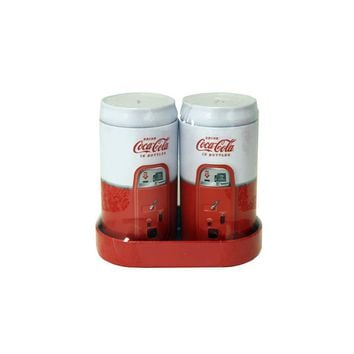 VINTAGE COKE SALT & PEPPER SHAKERS SET