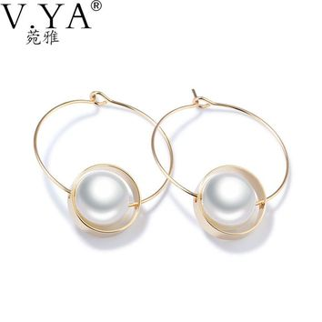 Simulated Pearl Earrings For Women - Elegant - Wedding Party Jewelry - Free Shipping