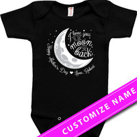 Baby Bodysuit Mother's Day Gift Ideas Baby Clothes Kids Clothing Toddler Clothes Kids T Shirt I Love You To The Moon And Back Infant DN-600