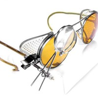 Steampunk Goggles  Antique AMBER TINT Willson by edmdesigns