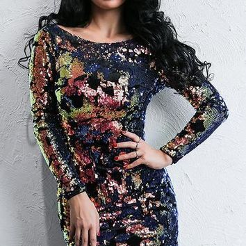 Kimmy Multi-Color Sequin Dress