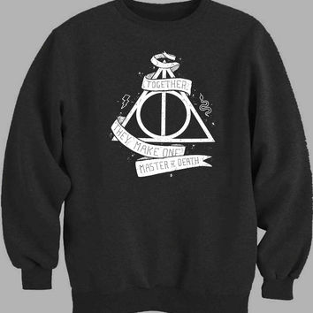 Deathly Hallows White Sweater for Mens Sweater and Womens Sweater *