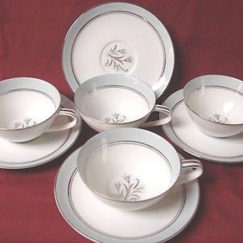 Noritake, China Dinnerware  Bluebell, Pattern #5558 set 4 Cup and saucer