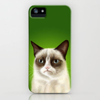 Grumpy Cat (GREEN version)  iPhone Case by Olechka | Society6