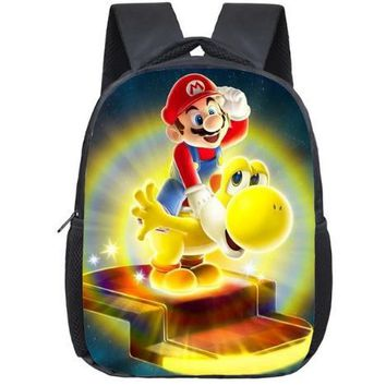 Super Mario party nes switch 12 Inch  Bros Kindergarten School Bags Sonic Printing Bookbags Children Baby Toddler bag Kids Backpack Gift AT_80_8