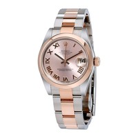 Rolex Datejust 31 Pink Dial Steel and 18K Rose Gold Oyster Ladies Watch 178241PRO