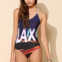 Kandi Wrappers LAX One-Piece Swimsuit - Urban Outfitters