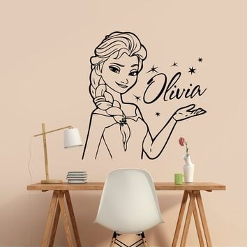 Personalized Name Wall Decal Vinyl Sticker Frozen Disney Custom Wall Art Decor Made in US