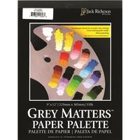Save On Discount Richeson Grey Matters Disposable Paper Palette, Gray Color for Neutral Surfaces & More Oil & Acrylic Palettes at Utrecht