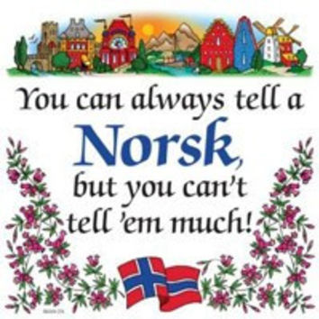 Kitchen Wall Plaques: Tell A Norsk