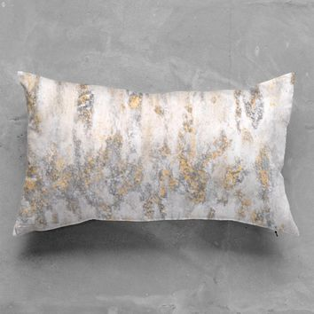Gold & Silver Fire pillow