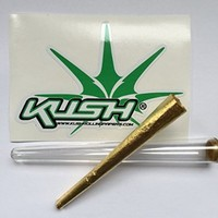 HIP 24 Karate Gold Pre Rolled Rolling Paper Cone King Size 1 Piece + Free Cone Tube