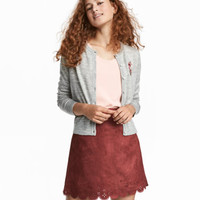 H&M Fine-knit Embroidered Cardigan $29.99