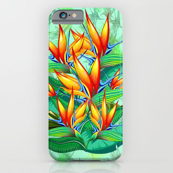 Bird of Paradise Flower Exotic Nature iPhone & iPod Case by BluedarkArt