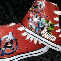 Birthday Boy Avengers Converse Shoe