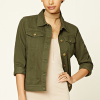 Boxy Button-Front Jacket