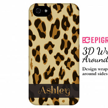 Personalized iPhone case, leopard print iPhone 6 case, iphone 5c case, iPhone 5s case, iPhone 4s phone cases, Galaxy S5 case, animal print