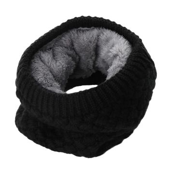 1PC Women Solid Chunky Cable O Ring Knitted Wool Scarf Snood Infinity Neck Warmer Cowl Collar Circle Crochet Scarf Winter Warm