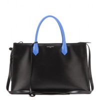 balenciaga - padlock nude work s leather and snakeskin tote