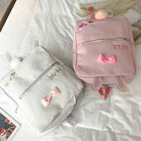 Animal ears pompom backpack (free ship) sold by CandyFrizz Stars