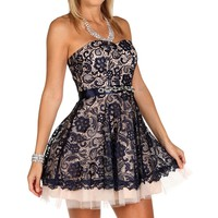 Sale-naveah- Navy Homecoming Dress