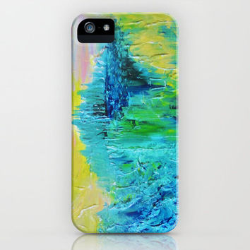 DREAM-SCAPE - Amazing Idyllic Nature Theme Pastel Dream Landscape Abstract Acrylic Painting iPhone Case by EbiEmporium | Society6