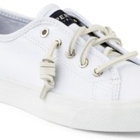 Sperry Top-Sider Seacoast Canvas Sneaker White, Size 9M  Women's Shoes