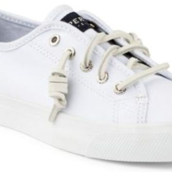 Sperry Top-Sider Seacoast Canvas Sneaker White, Size 11M  Women's Shoes