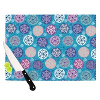 "Julia Grifol ""Floral Winter"" Cutting Board"