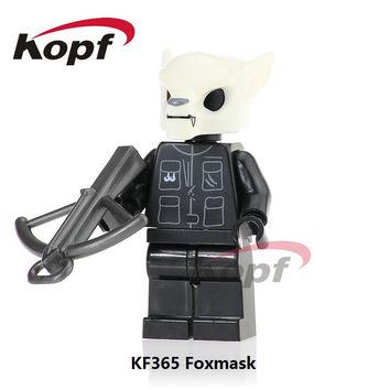 Single Sale The Horror Theme Movie Foxmask American Crazy Man Here's Jonney Zombie Building Blocks Children Toys Gift KF365