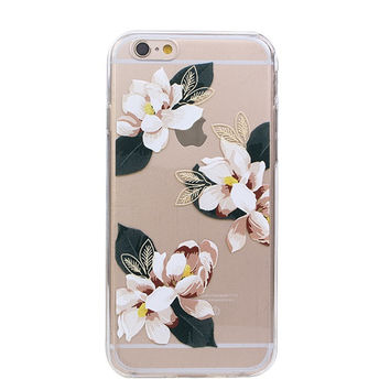 Exotic Tropical Gardenia Clear Case for iPhone 6 4.7''