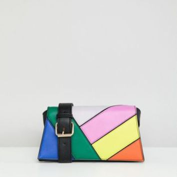 ASOS DESIGN trapeze rainbow shoulder bag at asos.com
