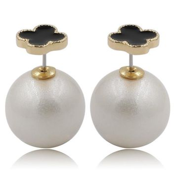 Mise en Dior Style Tribal v.s Van Cleef Earrings - Black & Venetian White