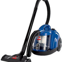 Bagless Canister Vacuum, Caribbean Blue Cleaner Caribbean Carpet Cyclonic New