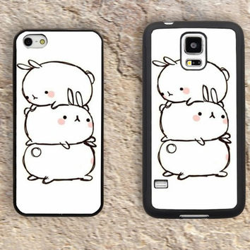 Lovely OEE Rabbit iPhone Case-Pink Gray iPhone 5/5S Case,iPhone 4/4S Case,iPhone 5c Cases,Iphone 6 case,iPhone 6 plus cases,Samsung Galaxy S3/S4/S5-019