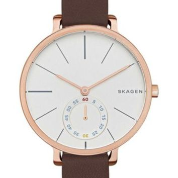 Skagen | Women's Hagen Leather Strap Watch | Nordstrom Rack