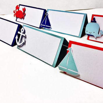 Nautical Place Cards - Nautical Themed Place Cards - Nautical Food Tent Cards - Nautical Party Decorations - Place Cards - Sailing Party