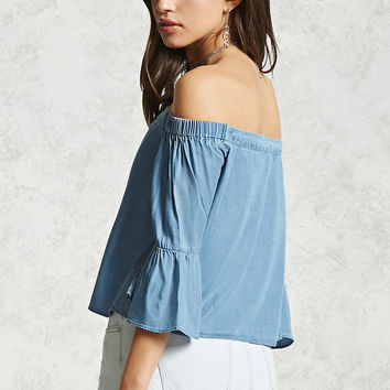 Contemporary Chambray Top
