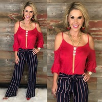 Casual Mood Red Top