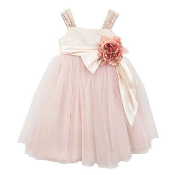 Chantilly Place 7-16 Brocade-Bodice Ballerina Dress | Dillards